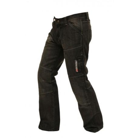 Pánske textilné moto kevlar jeansy Spark Metro, čierne