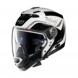 Moto helma N44 EVO Viewpoint N-Com Metal White 52 - M