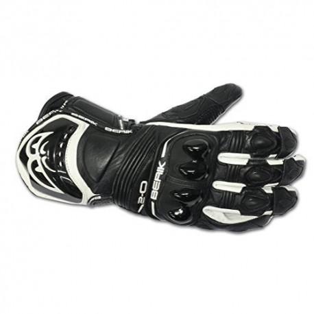 Kožené moto rukávce Berik G-10579-BK, čierne