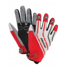 Pánske textilné moto rukavice Spark Cross, červené
