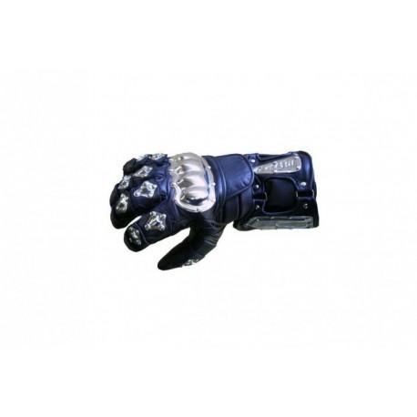 Pánske kožené moto rukavice Spark Metal Colour, modré