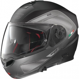 Moto helma Nolan N104 Absolute Tech N-Com Flat Black 27 - 3XL