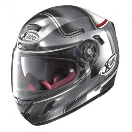 Moto helma X-Lite X-702 GT Openpass N-Com Scratched Chrome 46