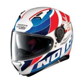 Moto helma Nolan N87 Plein Air N-Com Metal White 50