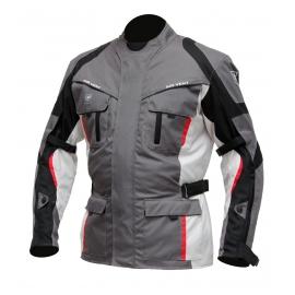 Pánska textilná moto bunda Cyber Gear, šedá