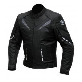 Pánska textilná moto bunda Cyber Gear Strada, čierna