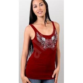 Dámské tílko Hot Leathers Sparkle Wings, červené