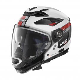 Moto helma Nolan N70-2 GT Bellavista N-Com Metal White 28