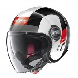 Moto helma Nolan N21 Visor Spheroid Metal White 46