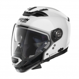 Moto helma Nolan N70-2 GT Classic N-Com Metal White 5