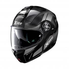 Moto helma X-Lite X-1004 Ultra Carbon Charismatic N-Com Glossy Black Chin Guard 13
