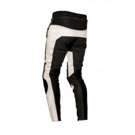 Pánské kožené moto kalhoty Spark ProComp Evo, bílé