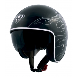 Moto helma Yohe 859-91B, Black, Silver