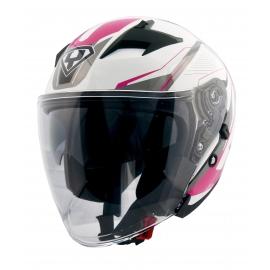 Moto helma Yohe 878-1M Graphic, Pink