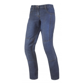 Dámske textilné moto kevlar jeansy Spark Desert Rose, modré