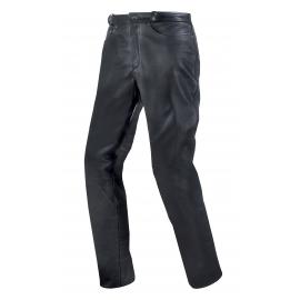 Pánske kožené moto nohavice Spark NB, čiernej matnej