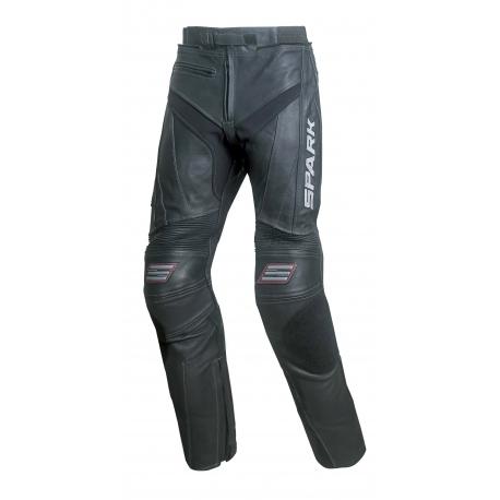 Pánske kožené moto nohavice Spark ProComp, čierne