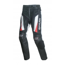 Pánské kožené moto kalhoty Spark ProComp, červené