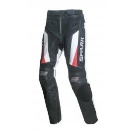 Pánske kožené moto nohavice Spark PROCOMP, červené