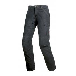 Pánske textilné moto kevlar jeansy Spark Track, čierne