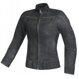 Dámska kožená moto bunda Spark Betty, Black