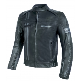 Pánská kožená moto bunda Spark Brono Evo černá, vzorek