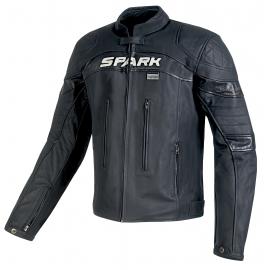 Pánska kožená moto bunda Spark Dark, čierna