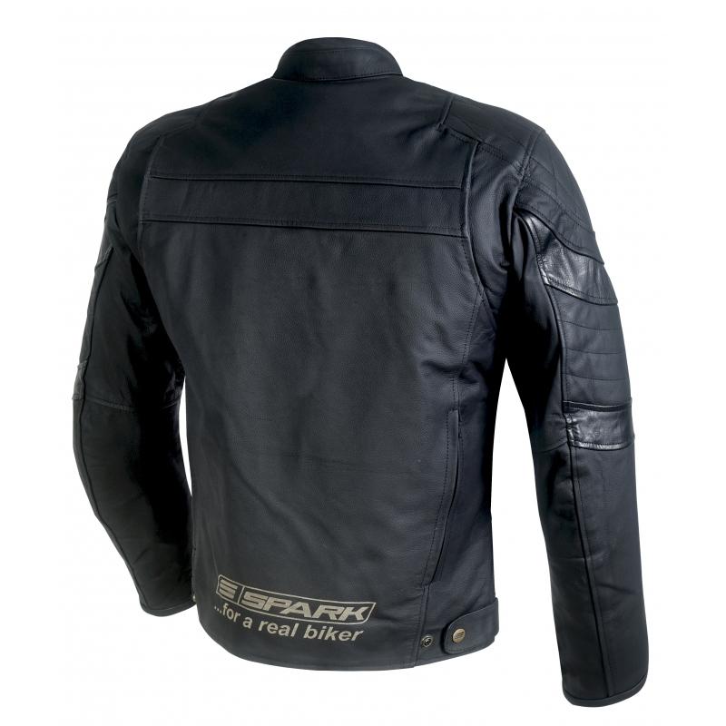 ee7fa632b440 ... Pánská kožená moto bunda Spark Dark