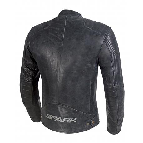 Pánska kožená moto bunda Spark Hector Black
