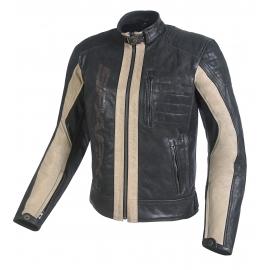 Pánska kožená moto bunda Spark Hector, hnedá