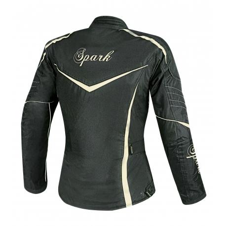 Dámska textilná moto bunda Spark Lady Vintage, Black