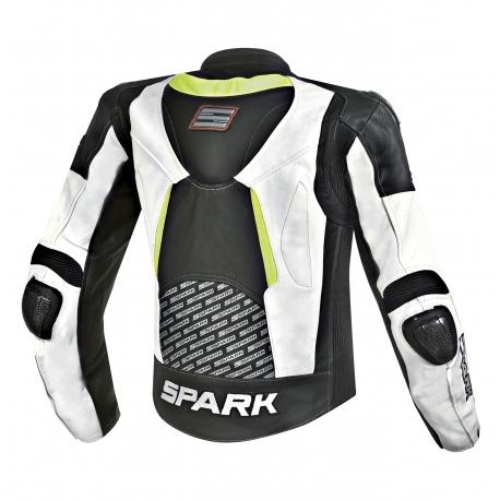 Pánska kožená moto bunda Spark PROCOMP, biela