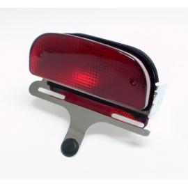 Motocyklové koncové světlo Highway Hawk DRAG style s držákem SPZ, chrom (1ks)