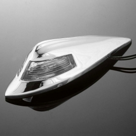 Motocyklové světlo na blatník Highway Hawk USA style, chrom (1ks)