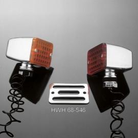 Mřížka pro světlo motocyklu Highway Hawk DEVIL'S EYES, chrom (1ks)