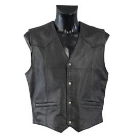 Pánská motocyklová vesta Held DILLON, černá, kůže