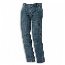 Pánské motocyklové kalhoty Held FAME,  vel.28 (délka 34, textilní - jeans vzhled, modré, kevlar