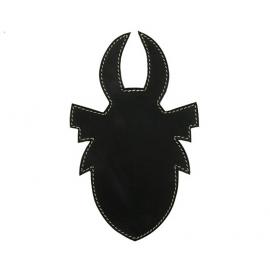 AGEUS Tankpad Custom ROHÁČ, universální, černý/bílé švy, kůže