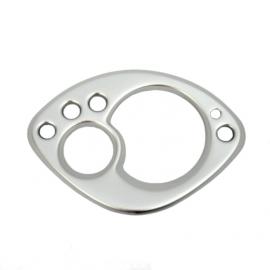 Rámeček budíků pro Yamahu CS50 Jog R, stříbrný. Original
