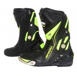 Pánske cestovné moto topánky Spark Silverstone, čierne-fluo
