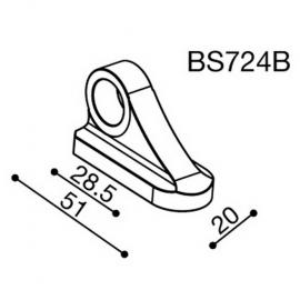Montážní adaptér BS724B pro zpětná zrcátka RIZOMA do kapotáže - pro motocykly TRIUMPH a YAMAHA, černý