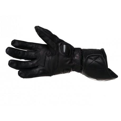 Pánske kožené moto rukavice Spark GP Tec, čierne