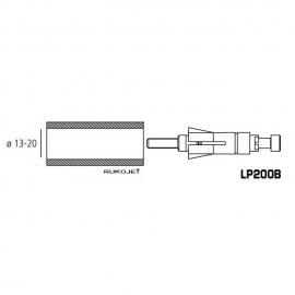 Adaptér RIZOMA pro Proguard system ochranné páčky nebo zrcátka, univerzální 13-20mm