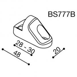 Montážní adaptér BS777B pro zpětná zrcátka RIZOMA do kapotáže - pro motocykly TRIUMPH a YAMAHA, černý