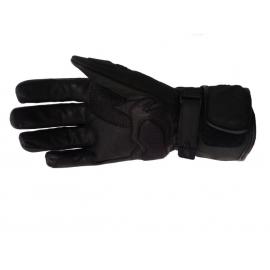 Pánske kožené moto rukavice Spark GT, čierne