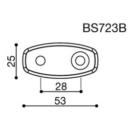 Montážní adaptér BS723B pro zpětná zrcátka RIZOMA do kapotáže - pro motocykly KAWASAKI, černý