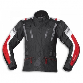 Dámská moto bunda Held 4-TOURING Reissa černá/červená