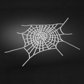 Emblém 3D samolepící Highway Hawk WEB-SPIDER (pavučina), malý 29 x 8cm, chrom