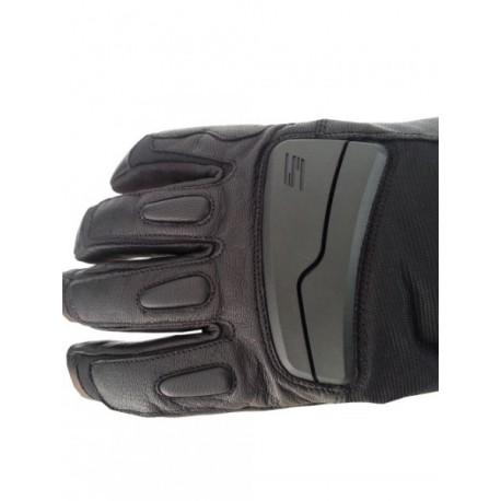 Pánske kožené moto rukavice Spark STT, čierne