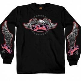 Pánské tričko Hot Leathers Freedom Eagle Long, černé - 2XL
